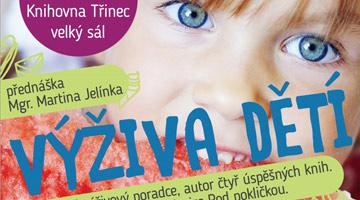 Přednáška Výživa dětí v knihovně Třinec