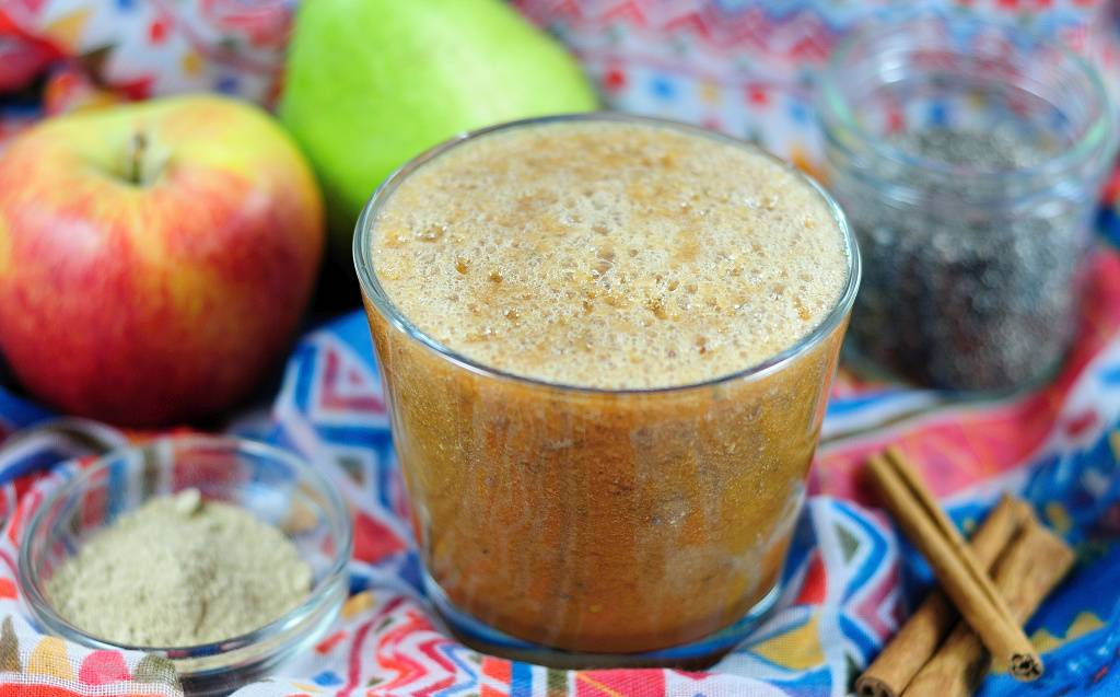 Warming smoothie with cinamon and ginger
