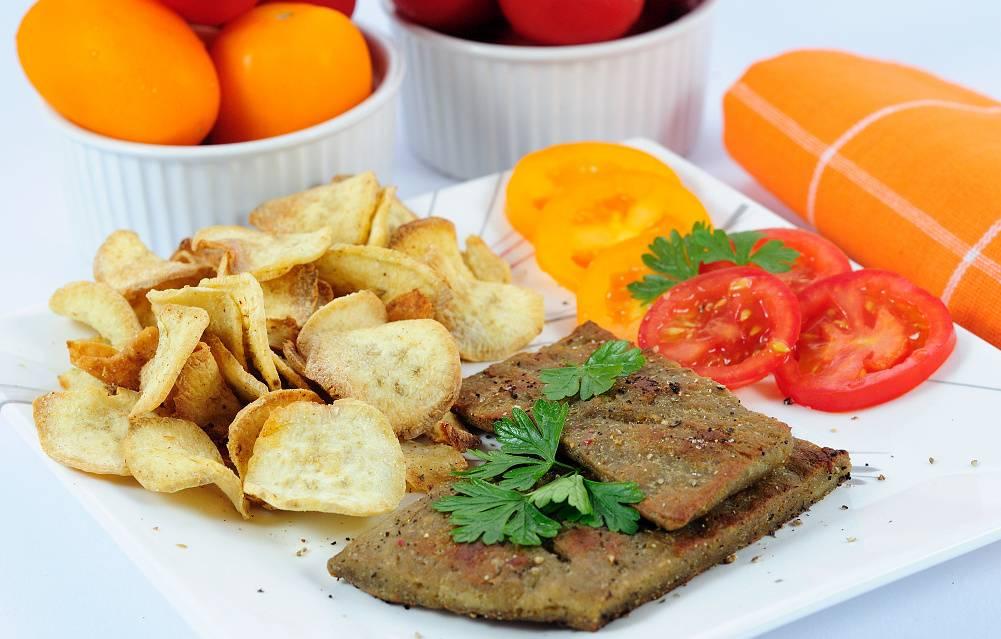 Robi steak s batátovými plátky