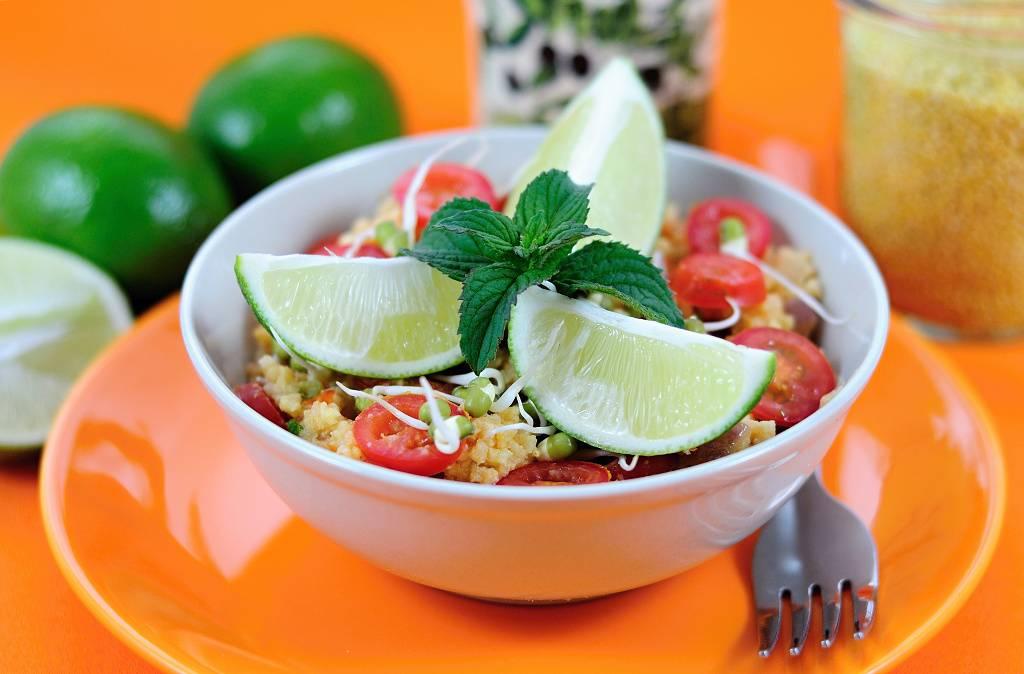 Svěží jáhlový salát