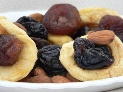 Sušené ovoce s mandlemi