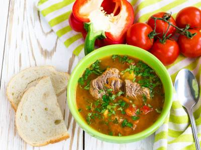 Kavkazská jehněčí polévka (Shurpa)