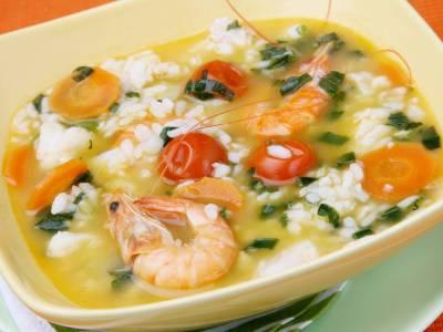 Krevetová polévka s rýží